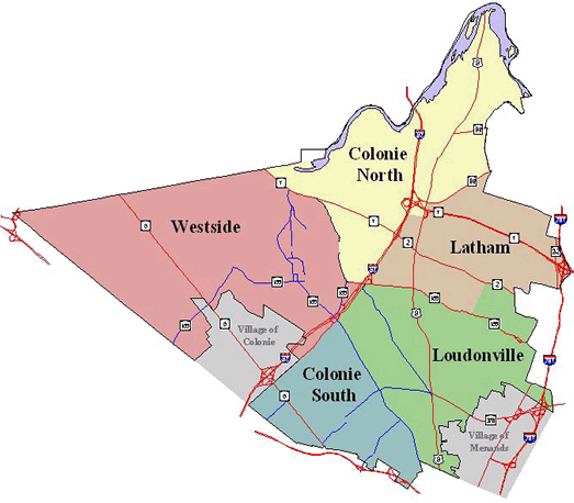 colonie map